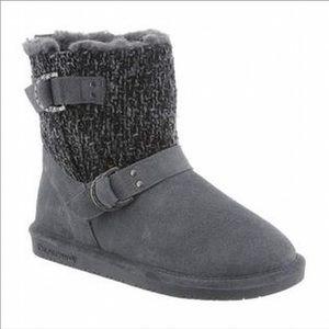 Bearpaw Nova Boots Charcoal Gray 10 EUC